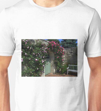 Green Garden Gate With Bench Unisex T-Shirt