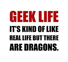 Geek Life Dragons Photographic Print