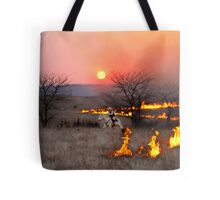 Kansas Rancher Checks Fire Line Tote Bag