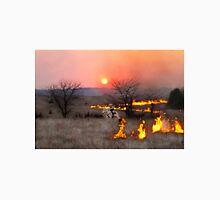 Kansas Rancher Checks Fire Line Unisex T-Shirt