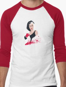 People always underestimate a girl in diamonds and furs (Cruella De Vil) Men's Baseball ¾ T-Shirt