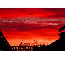 Red Sunset Photographic Print