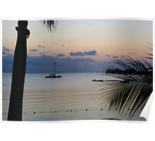 Negril just after sunset Poster