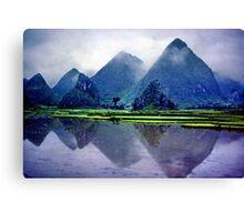 Yangshou karst, China Canvas Print