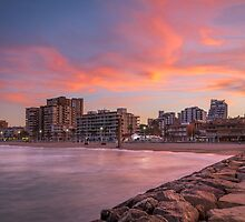 Sunset at the seaside 2 by Ralph Goldsmith