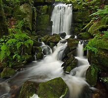 Clough Hole waterfall by Steve  Liptrot