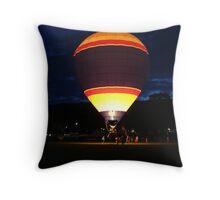Glowing Balloon! UFO Throw Pillow