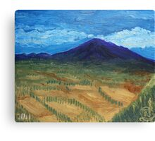 Oil Painting - Mount Etna 2011 Canvas Print