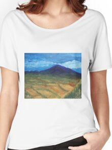 Oil Painting - Mount Etna 2011 Women's Relaxed Fit T-Shirt
