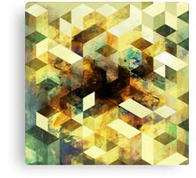 Oil cubes Canvas Print