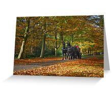 Autumn Ride Greeting Card
