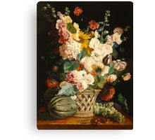 fruits and flowers  after A. Berjon Canvas Print