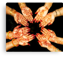 The Art Of Henna Body Painting  Canvas Print