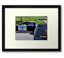 OFFICER TICKETING A LIMO DRIVER Framed Print