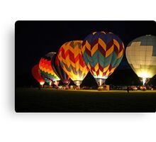 Light up the night!  Glowing the balloons! 605 views! Canvas Print