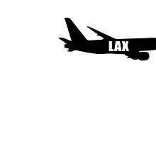 LAX plane by jerasky