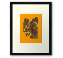 We are the lion. Framed Print