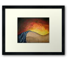 warming touch. Framed Print