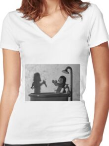 "Norman: ""Is that you, Mother? "" Women's Fitted V-Neck T-Shirt"