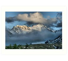 From the Top of Chilkat Pass, British Columbia, Canada Art Print
