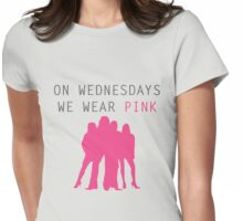 On Wednesdays we wear pink- Mean Girls Womens Fitted T-Shirt