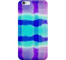 Purple and Blue Watercolor Abstract Stripe Pattern iPhone Case/Skin