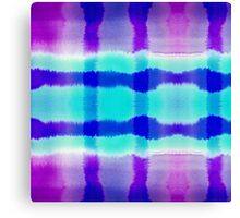 Purple and Blue Watercolor Abstract Stripe Pattern Canvas Print