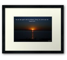 Saying it all Framed Print