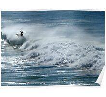 Surfing at Bondi  Poster