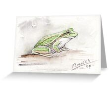 The green and gold frog L.raniformis Greeting Card