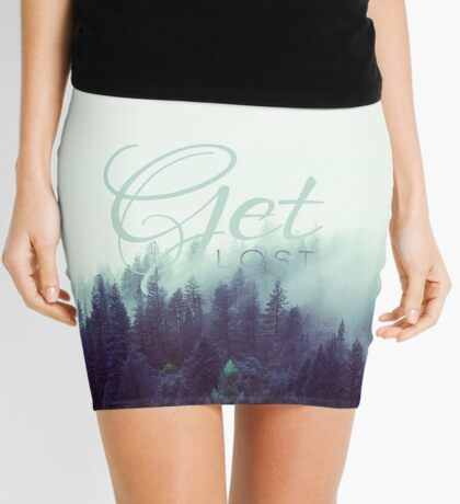 Get Lost Quote Mini Skirt