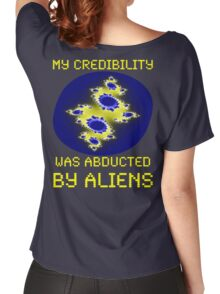 Credibility Abducted By Aliens, Funny Women's Relaxed Fit T-Shirt
