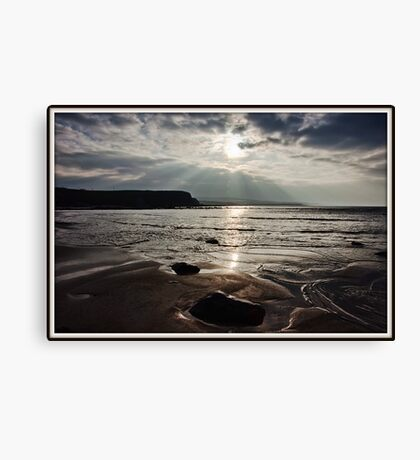 evening capture of my number 1 beach in county clare, lahinch  beach , lehinch, county clare, ireland. cliffs of moher in the very far distance. ireland. Canvas Print