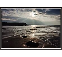 evening capture of my number 1 beach in county clare, lahinch  beach , lehinch, county clare, ireland. cliffs of moher in the very far distance. ireland. Photographic Print