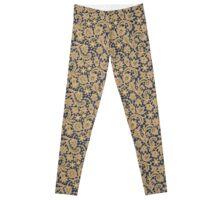 Gold Lace Seamless Pattern. Leggings