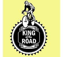Retro Style Mens Racing Bike Road Touring Cycling Logo  Photographic Print