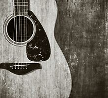 Guitar Portrait in Black and White by Kadwell