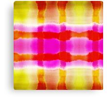 Summer Watercolor Abstract Stripe Pattern Canvas Print