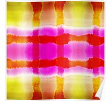 Summer Watercolor Abstract Stripe Pattern Poster