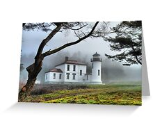 Lighthouse in the Fog Variation Greeting Card