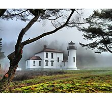 Lighthouse in the Fog Variation Photographic Print