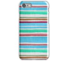 Vintage teal maroon fabric texture stripes pattern iPhone Case/Skin