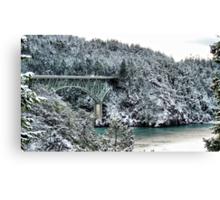Snowbridge Two Canvas Print