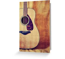 Guitar Portrait Greeting Card