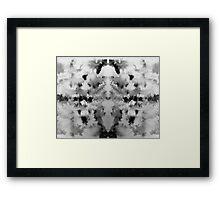 Monochrome brusho print Framed Print