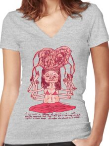Too Busy Minded Women's Fitted V-Neck T-Shirt