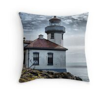 Lime Kiln Lighthouse Throw Pillow