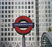London Underground Sign @ Canary Wharf by Allen Lucas