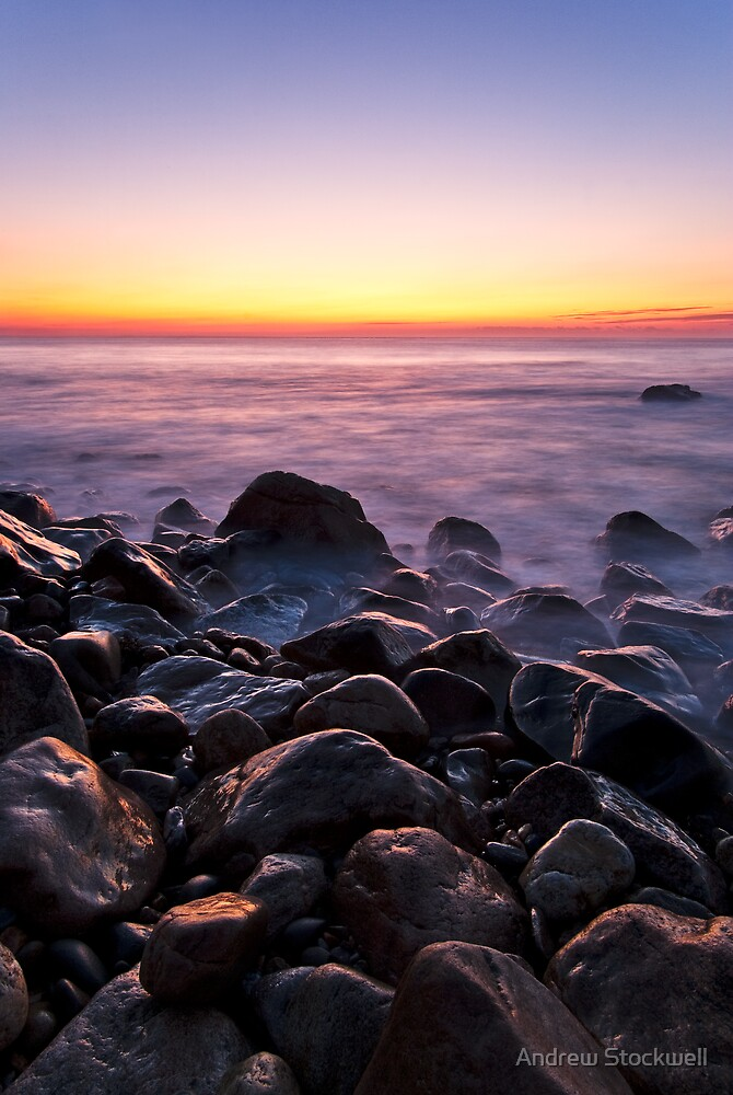 Point Judith Summer Twilight by Andrew Stockwell
