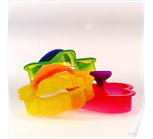 Colorful Cookie Cutters Poster